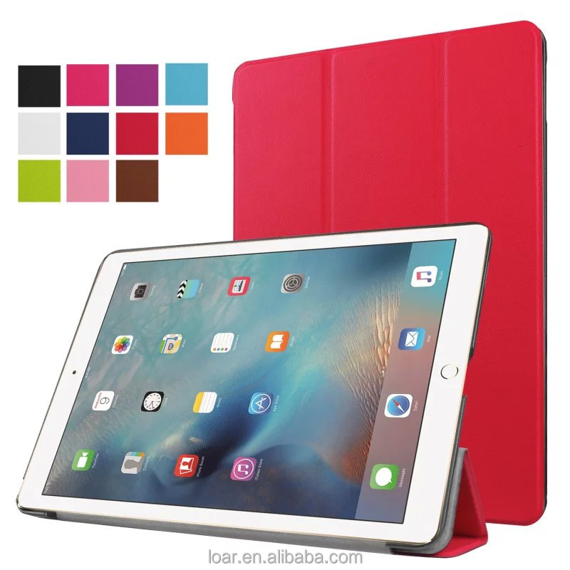 New Generation 2017 ultra thin Tri Folding Leather Flip cover for ipad 9.7 10.5 2017 tablet case