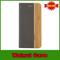 Hot selling cell phone wooden wallet case for iphone 6