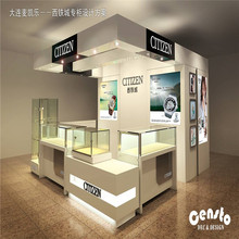 Creative fashionwatch shop counter design with watch display stand for watch box
