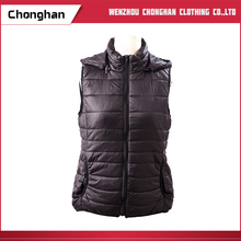 Chonghan Cheap Price Custom Black Cotton Waistcoat/ Vest In Pakistan