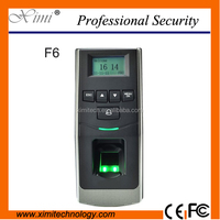 F6 Biometric fingerprint access control and time attendance with ID or IC card reader and good Communication server