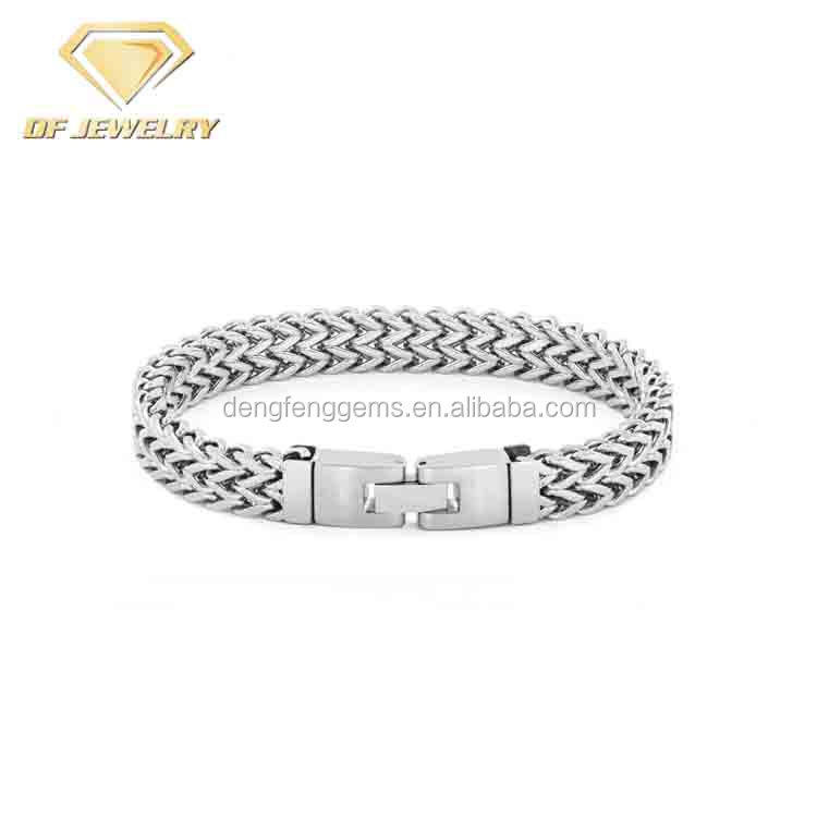 American Design Men's High Polish Silver Chain Link Bracelet