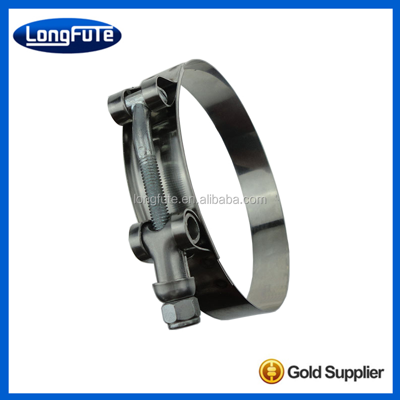 hollow and solid trunnion T bolt super strong hose clamp
