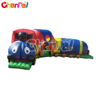 activity train obstacle for kids, inflatable tunnel obstacle