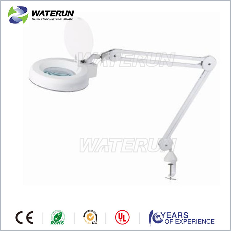 Ultra efficient mount spring arm magnifying lamp with clamp