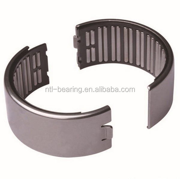 Split half moon needle roller bearing