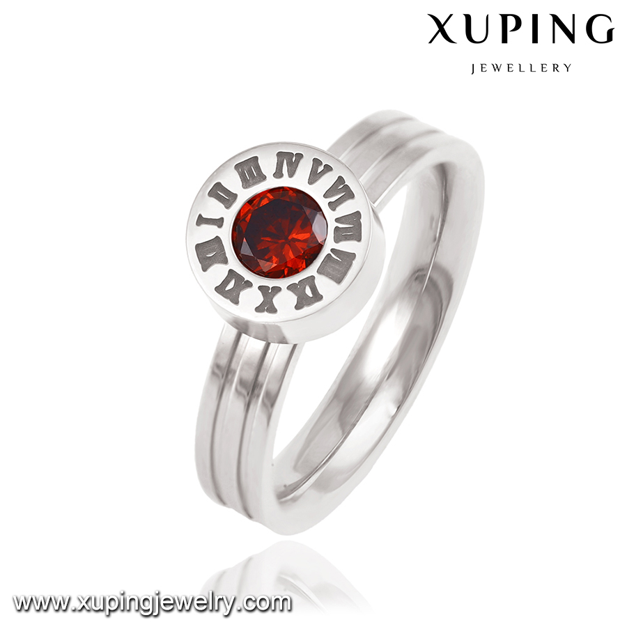 13890 Xuping imitate watch dial design finger ring Roman numerals inlayed colorful stones interchangeable crystal ring