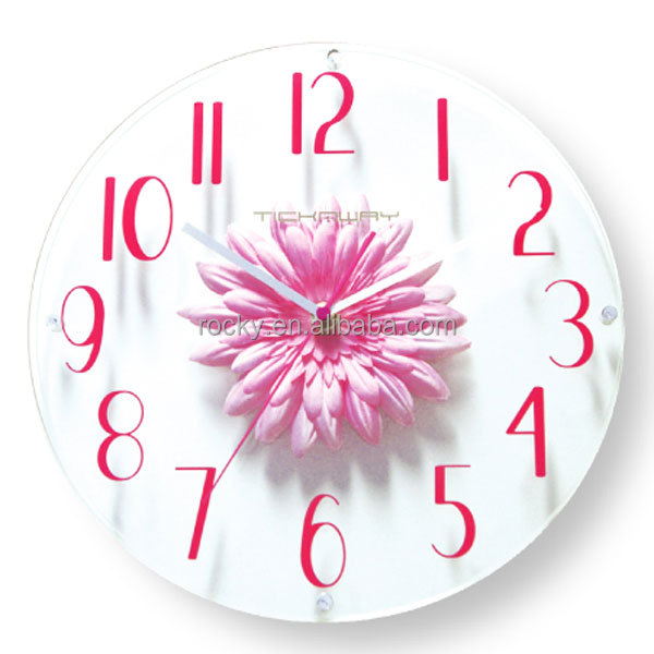 ROCKY tempered frameless glass wall clock