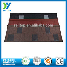 Shingle Type stone chip coated aluminium zinc roof tile