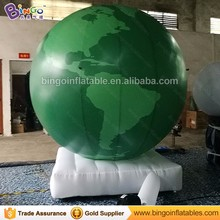 Planet Type Inflatable Earth Air inflatable earth Globe balloon with base
