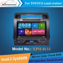 touch screen car dvd player for TOYOTA land cruiser with gps navigation,3G/WIFI,mirror link,DSP Audio