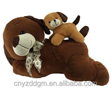 Plush Stuffed Animal Dog Mommy and Puppy toys