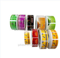 Customized Colorful Sticker Labels,Cosmetic Logo Stickers