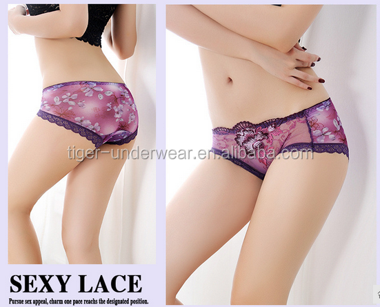 2017 New Wholesale Hot Sell Sexy Short Panty Embroidery Sexy Ladies Underwear