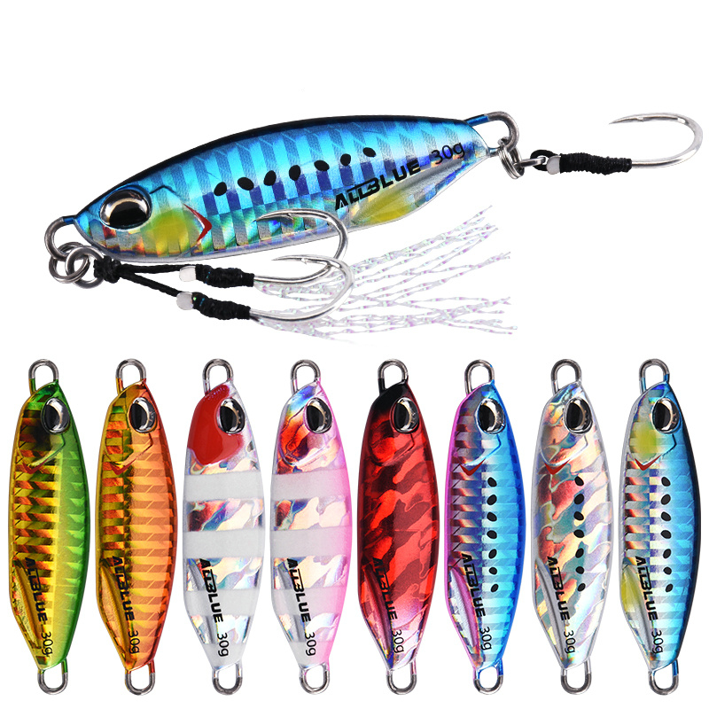 ALLBLUE DRAGER SLOW Saltwater Bass <strong>Fishing</strong> Lures Shad Slow Jig With Hooks