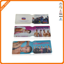 Cheap Transparent PVC Plastic Business Folding Card Holder Wholesale