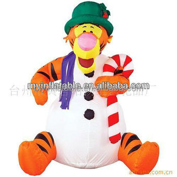 Special inflatable outdoor Christmas jumping tigger decoration form taizhou huangyan
