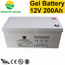 Lead acid gel 200ah 12v deep cycle battery solar
