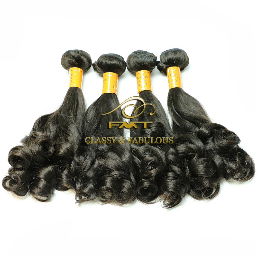 Best quality brazilian virgin hair beautiful fumi wave 100% natural human hair