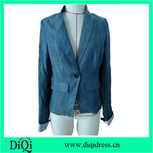 new models of women fashion office wear coat casual plain color jersey coats