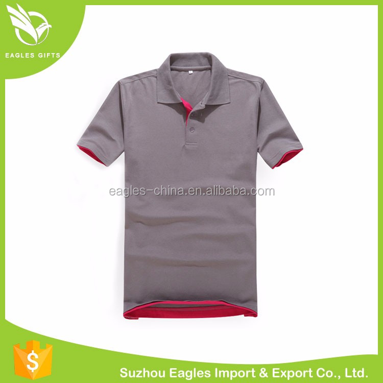 Polyester/ Spandex Blank Polo Shirt For Men