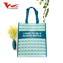 Fancy Style Logo Printed Recycle PP Laminated Non Woven Shopping Tote Bags