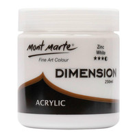 Mont Marte Dimension Acrylic Paint 250mls - Zinc White