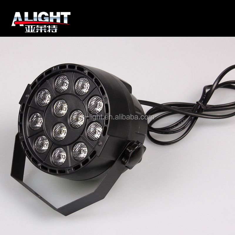 Wireless DMX PAR 12 * 1W LED LED thin PAR LED professional stage lights RGB sound control lamp LED staining lighting