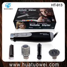 Multi-function dry straighten wave electric rolling hair brushes