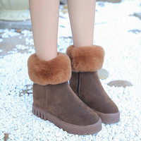 DL10204B 2017 new european style winter thick sole warm snow boot ladies plush ankle boots