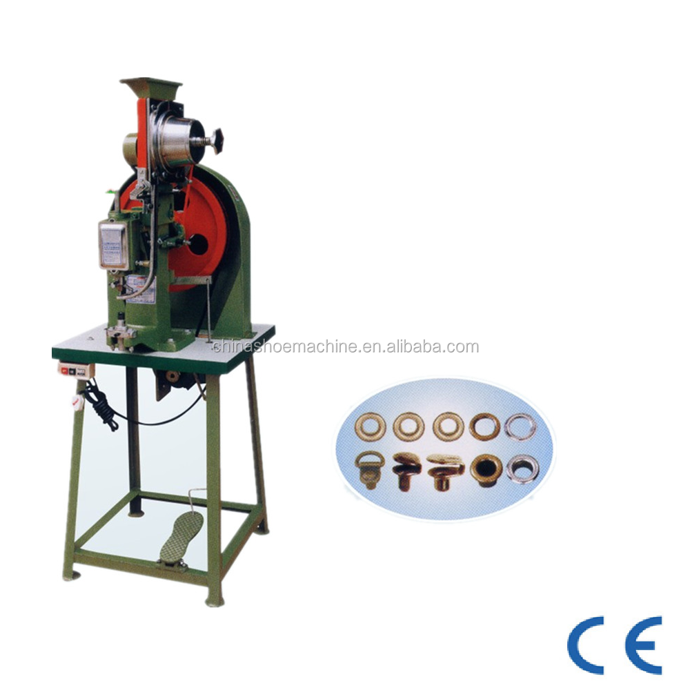 QF - 918G & QF - 918H Specialise Semi-auto eyeleting & hook button machine shoe making machine