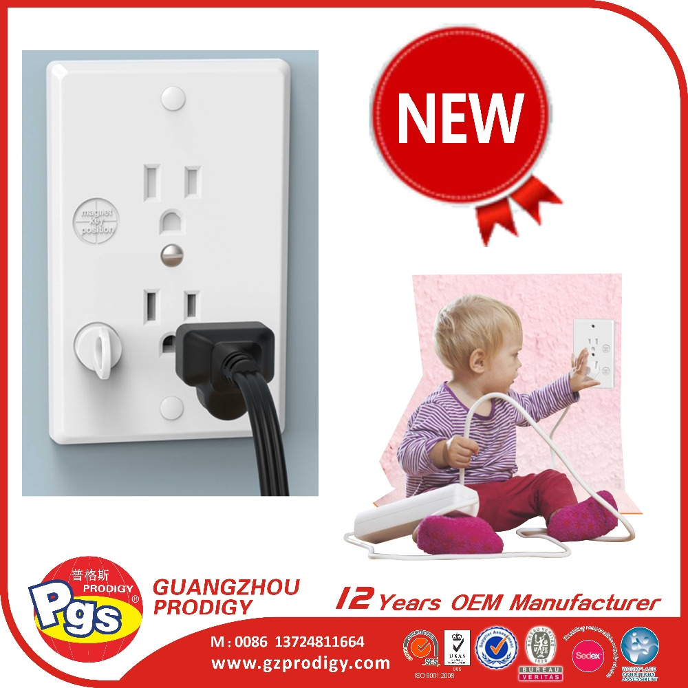 Best selling self closing baby safety magnetic safety plug socket covers