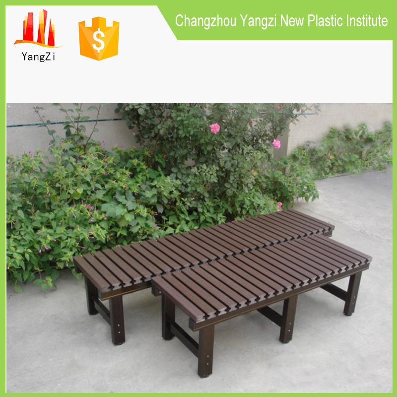 Recycled plastic slats park bench aluminium alloy parts and legs