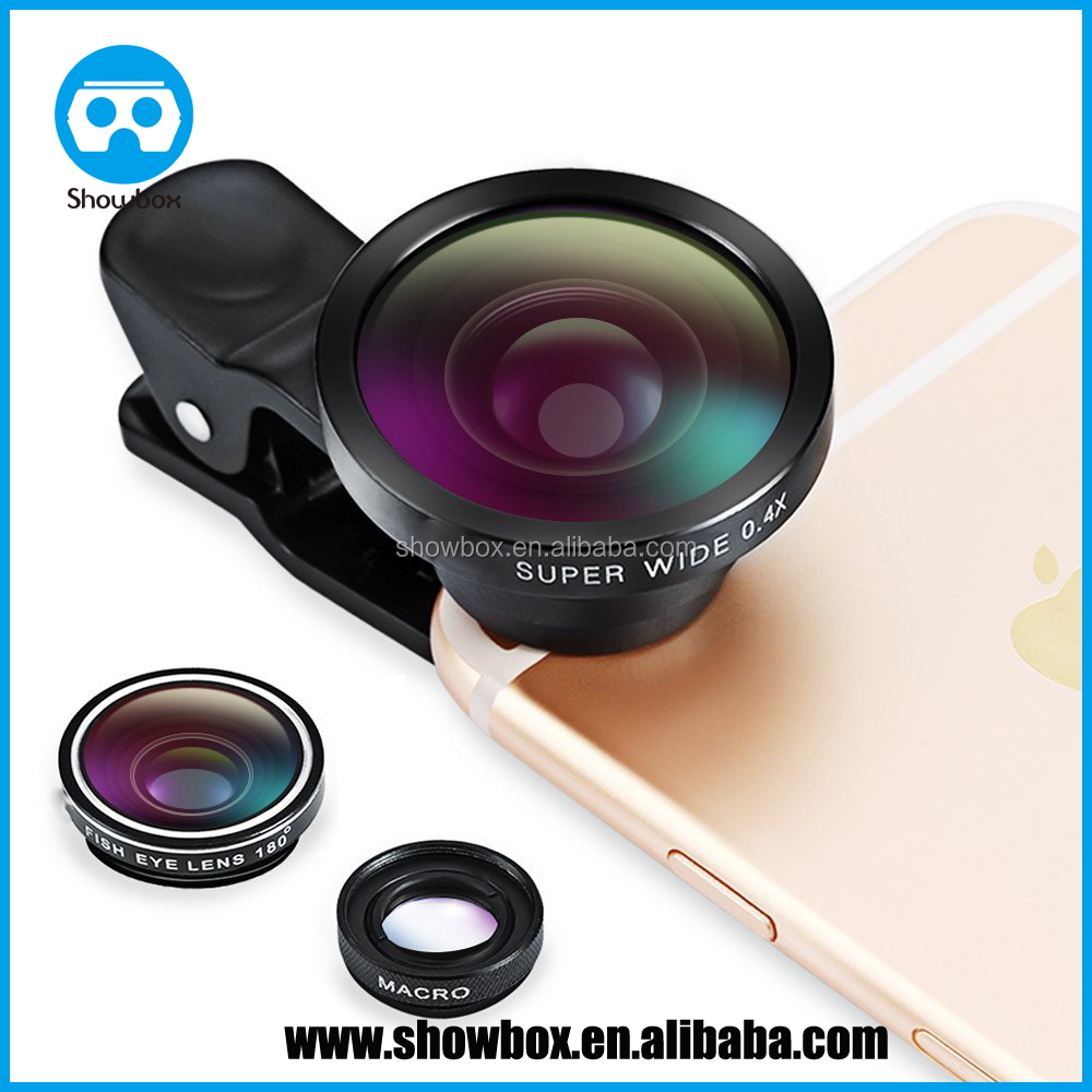 3 in 1 Fisheye Lens Plus Macro Lens Plus 0.4x Super Wide Angle Lens, Clip on Cell Phone Lens Camera Lens Kits for Iphone 6s, 6
