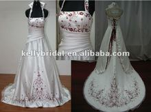 newest red embroidered organza and satin wedding dress dresses evening 80cc7895