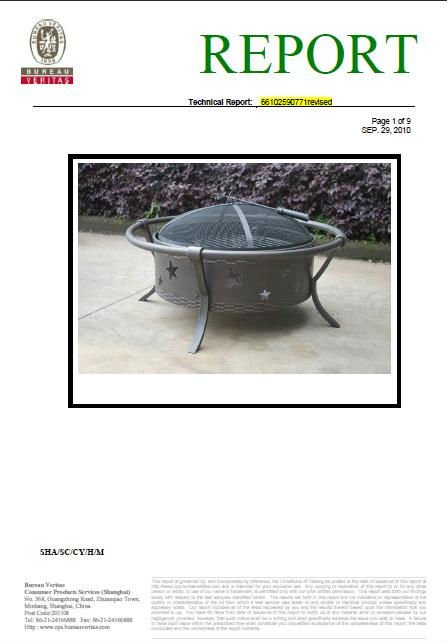 Garden country style star metal fire pit