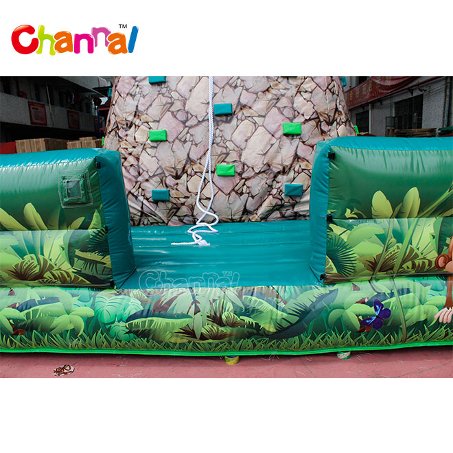 Cheap Commercial dinosaur inflatable rock climbing wall sport games