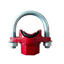 Ductile IronASTM A536 Grooved Pipe Fittings U-Bolted Mechanical Tee for fire fighting system