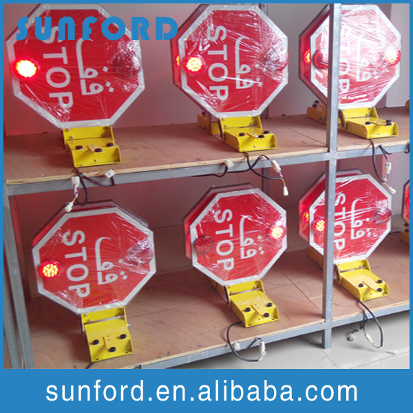 High retro reflective material 12/24 V school bus stop signs