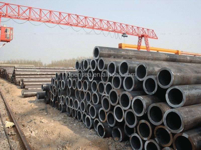 "DN200,OD 219mm ASTM A106/A53 Gr.B Black Low Carbon Seamless MS Steel Pipe 8"" In Panic Price Per"