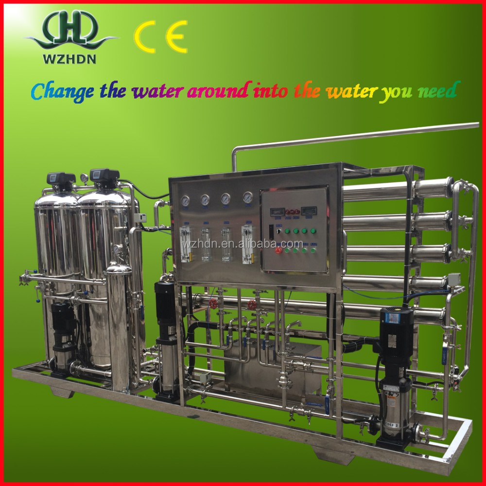 1T/H reverse osmosis water purification unit solar desalination system for drinking water process