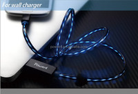 EL Glowing Chasing Visible Mobile Charger Sync Micro USB Data Cable For Samsung