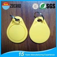High quality plastic ISO14443A 125 khz rfid key fob