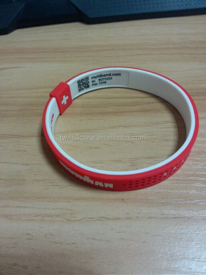 Hottest sale qr silicone bracelet fashion jewelry for USA market