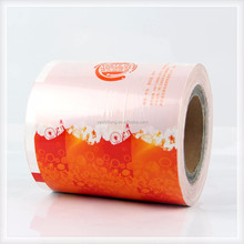 Custom print plastic packaging bag roll film for biscuits chocolate candy snack food Packaging