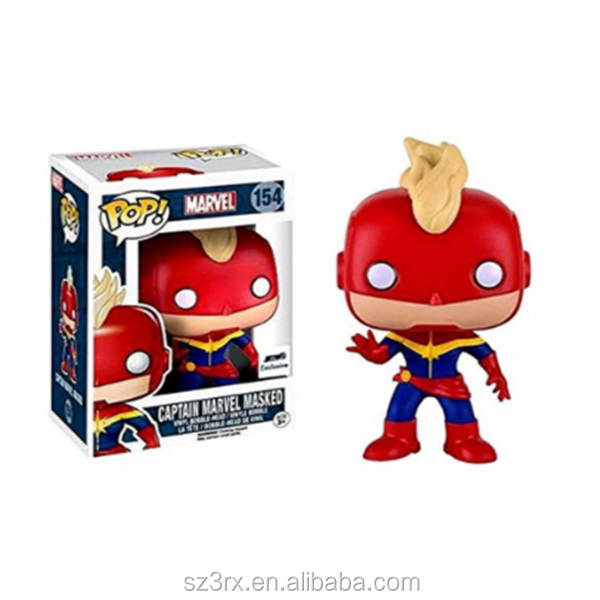 Custom your own movies character masked captain marvel booble vinyl figures toys funko pop action figure