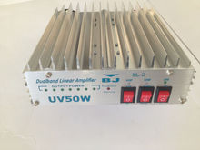 Dual band linear power amplifier vhf/uhf radio signal amplifier mobile linear amplifier BJ-UV50W