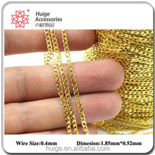 Fashion solid raw Brass Soldered Curb Chain