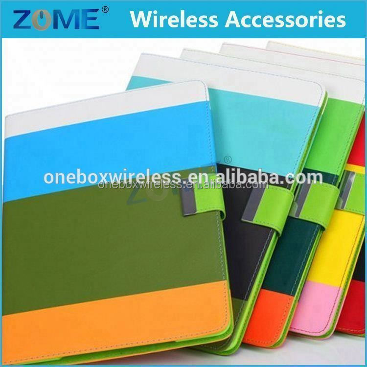 Fashion Rainbow Stripes Leather Case For Ipad Air Light Weight Cell Phone Case