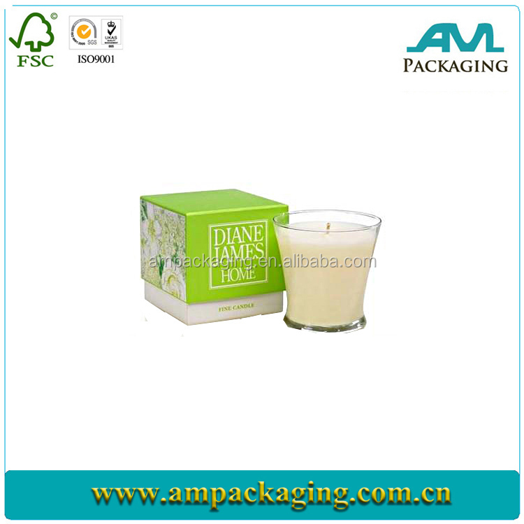 wholesale high quality custom rigid paper box jar candle packaging